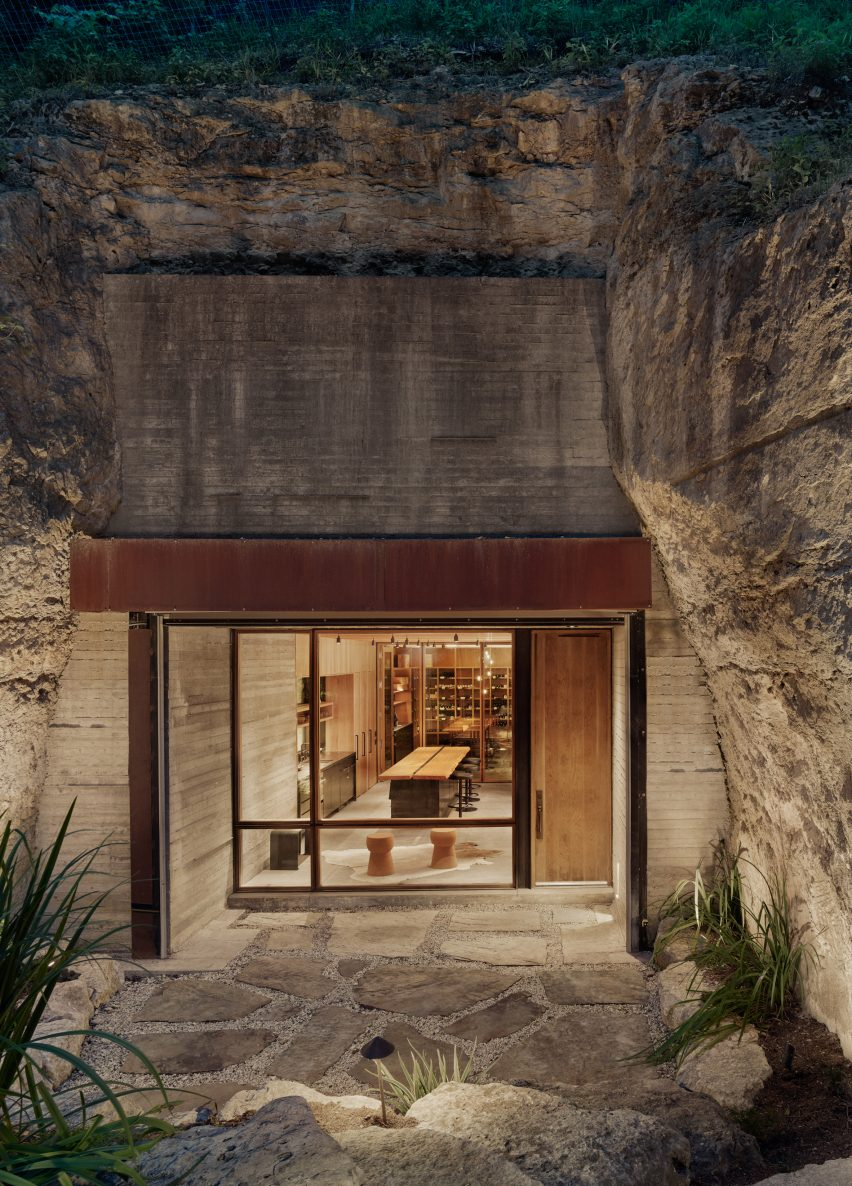 Entrance of the Hill Country Wine Cave by Clayton Korte