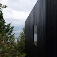 A blackened-timber facade of Holiday Home by Thingvallavatn