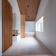 A wood-lined corridor in an Icelandic holiday home