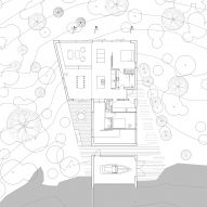 The ground floor plan of Holiday Home by Thingvallavatn by KRADS