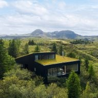 KRADS completes green-roofed Icelandic holiday home overlooking Lake Thingvallavatn