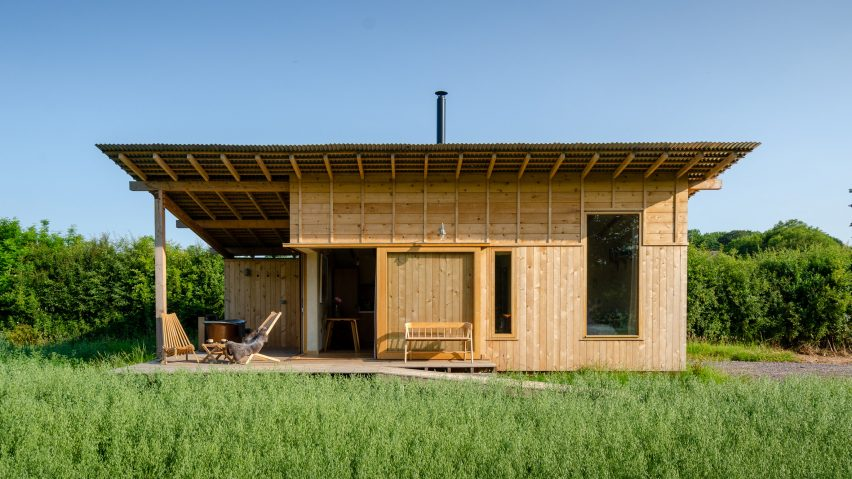 A wooden cabin by Out of the Valley