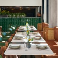 More green details in Hotel Magdalena's restaurant