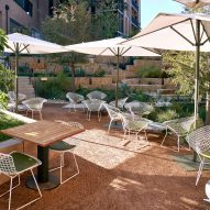 The restaurant's outdoors seating area