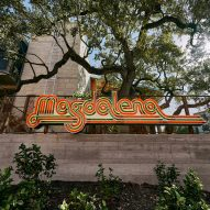 A neon Hotel Magdalena sign