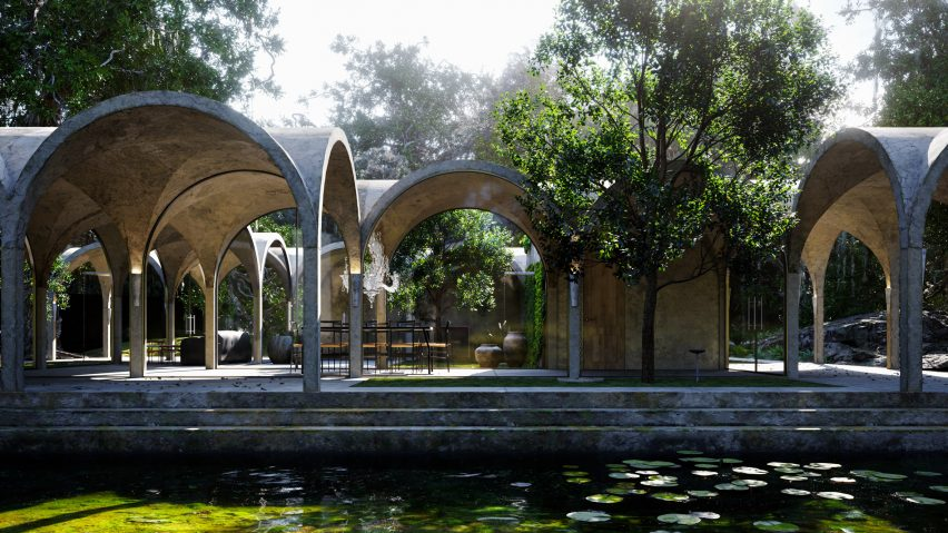 Virtual house by Marc Thorpe with vaulted arches