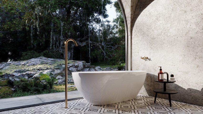 A bathroom in the virtual house