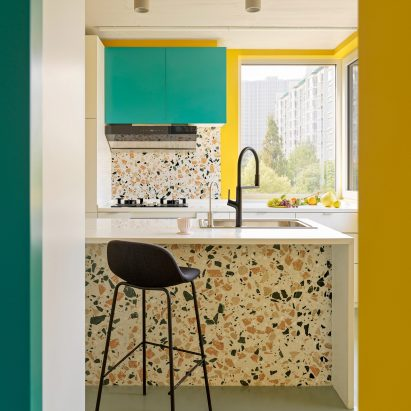 Terrazzo kitchen in House P, China
