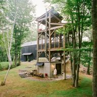 BarlisWedlick builds sauna topped by tower for Hudson Valley cabin