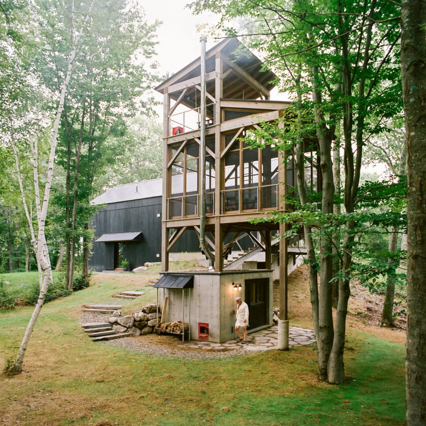 Sauna Tower in New York State
