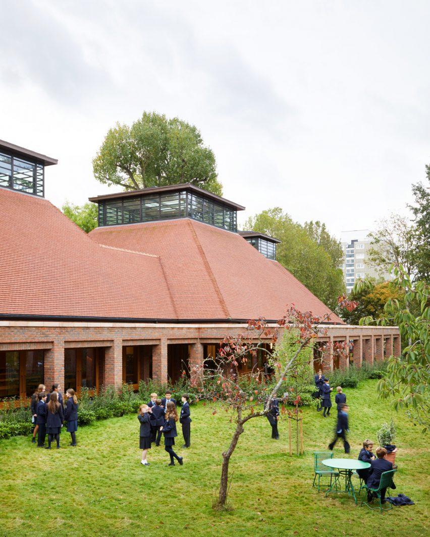 Ibstock Place School in Roehampton dining hall