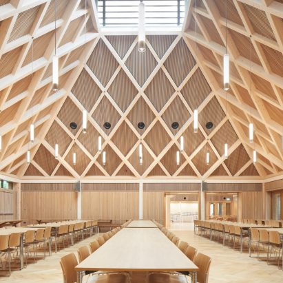 Ibstock Place School Refectory in Roehampton by Maccreanor Lavington