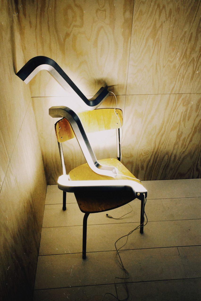 Three Allen key lights by Gelchop on a chair