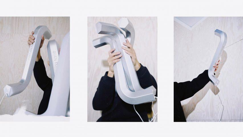 IKEA Allen key-shaped lamp