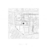 Site plan of INES innovation centre by Pezo von Ellrichshausen