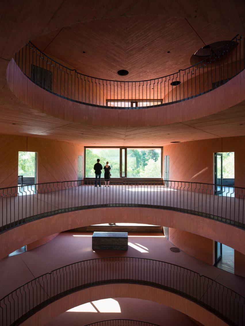 Interior of INES innovation centre by Pezo von Ellrichshausen