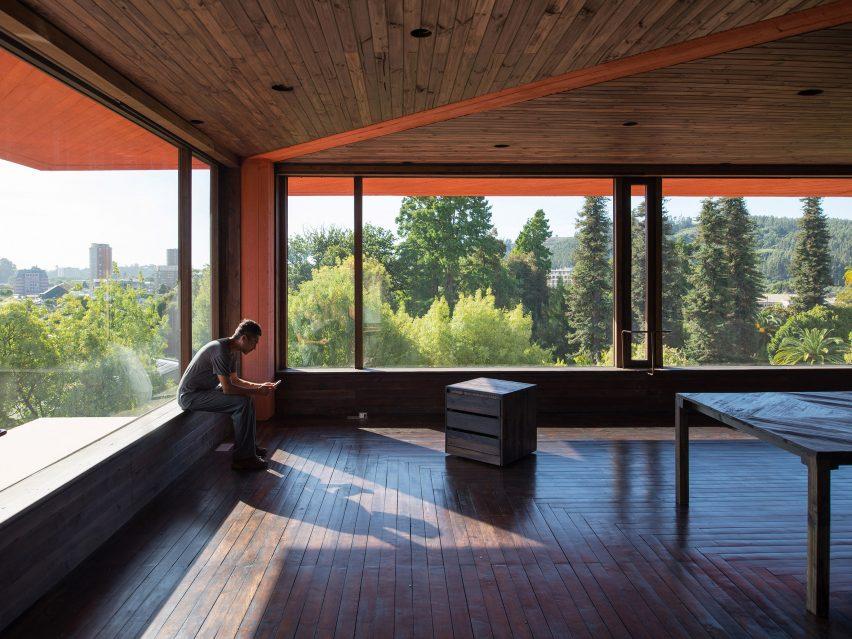 Corner rooms in INES innovation centre by Pezo von Ellrichshausen