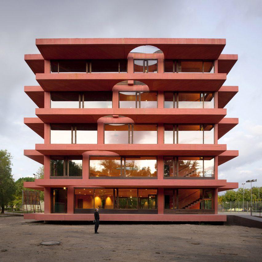 Exterior of INES innovation centre by Pezo von Ellrichshausen
