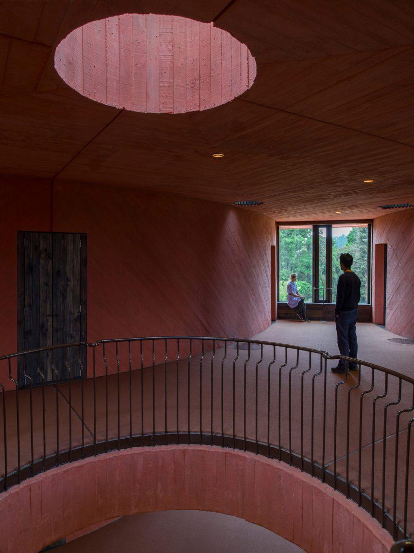 Upper level of INES innovation centre by Pezo von Ellrichshausen