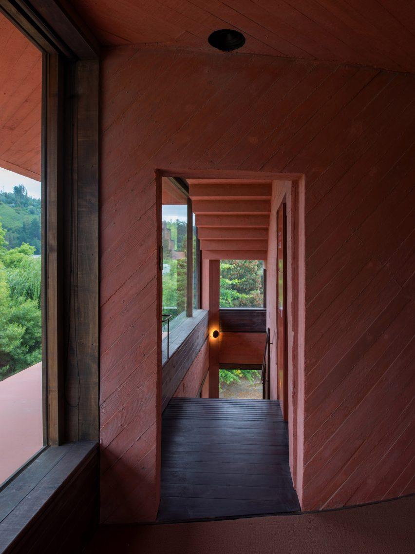 Staircase in INES innovation centre by Pezo von Ellrichshausen