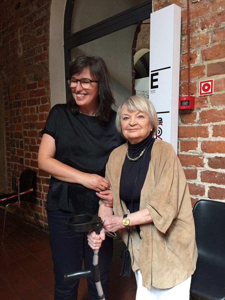 Jadwiga Grabowska-Hawrylak with Nathalie de Vries