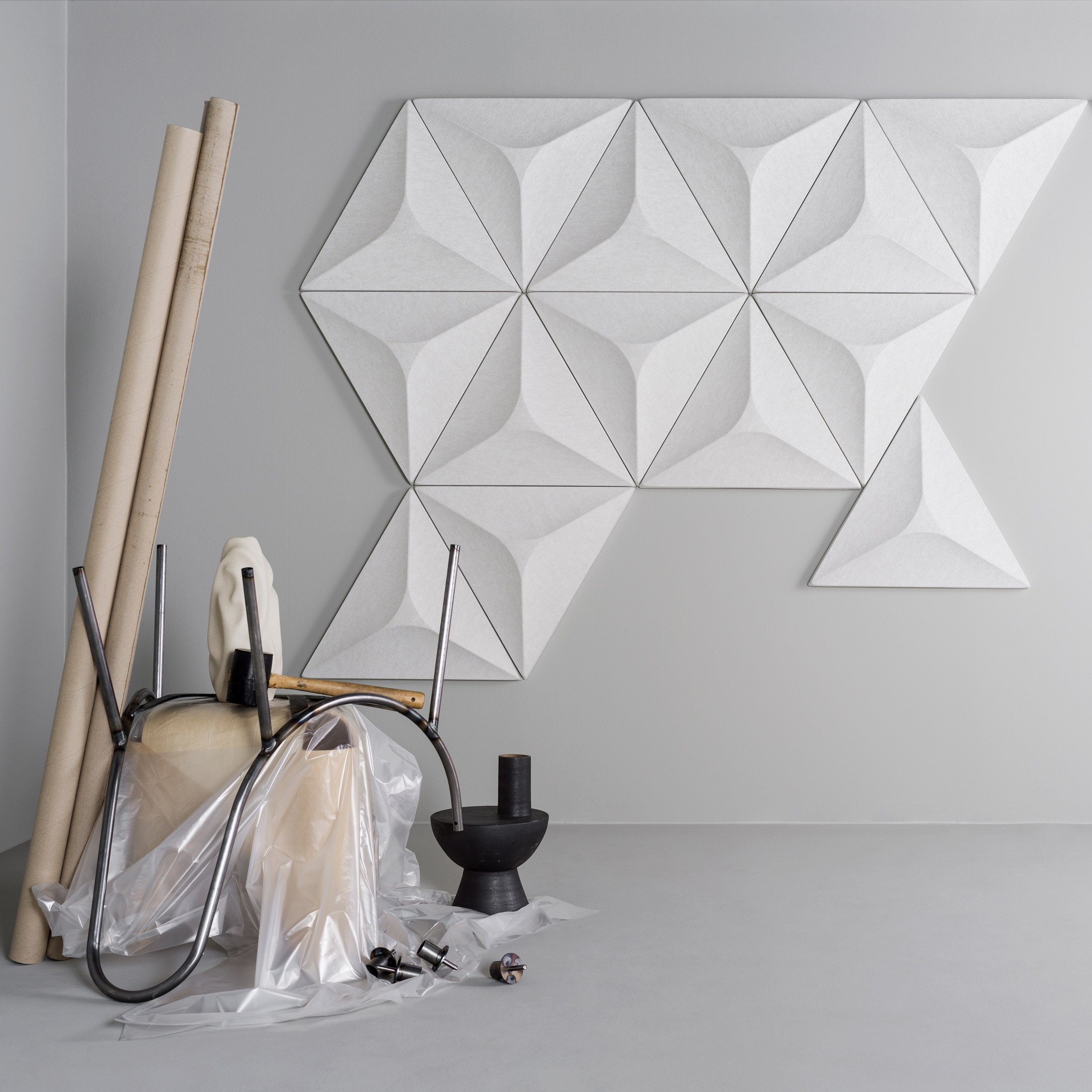 A group of geometric acoustic panels