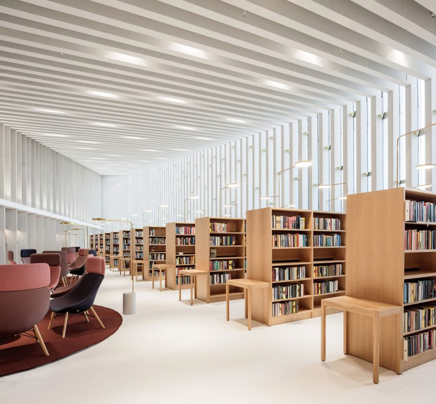 Reading room in Finland