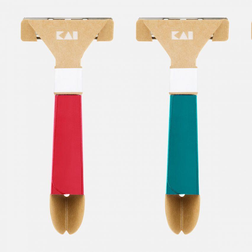 Paper disposable razor by Kai