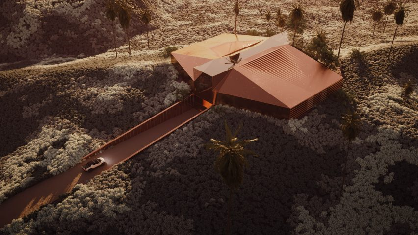 Bronze virtual garage in the desert