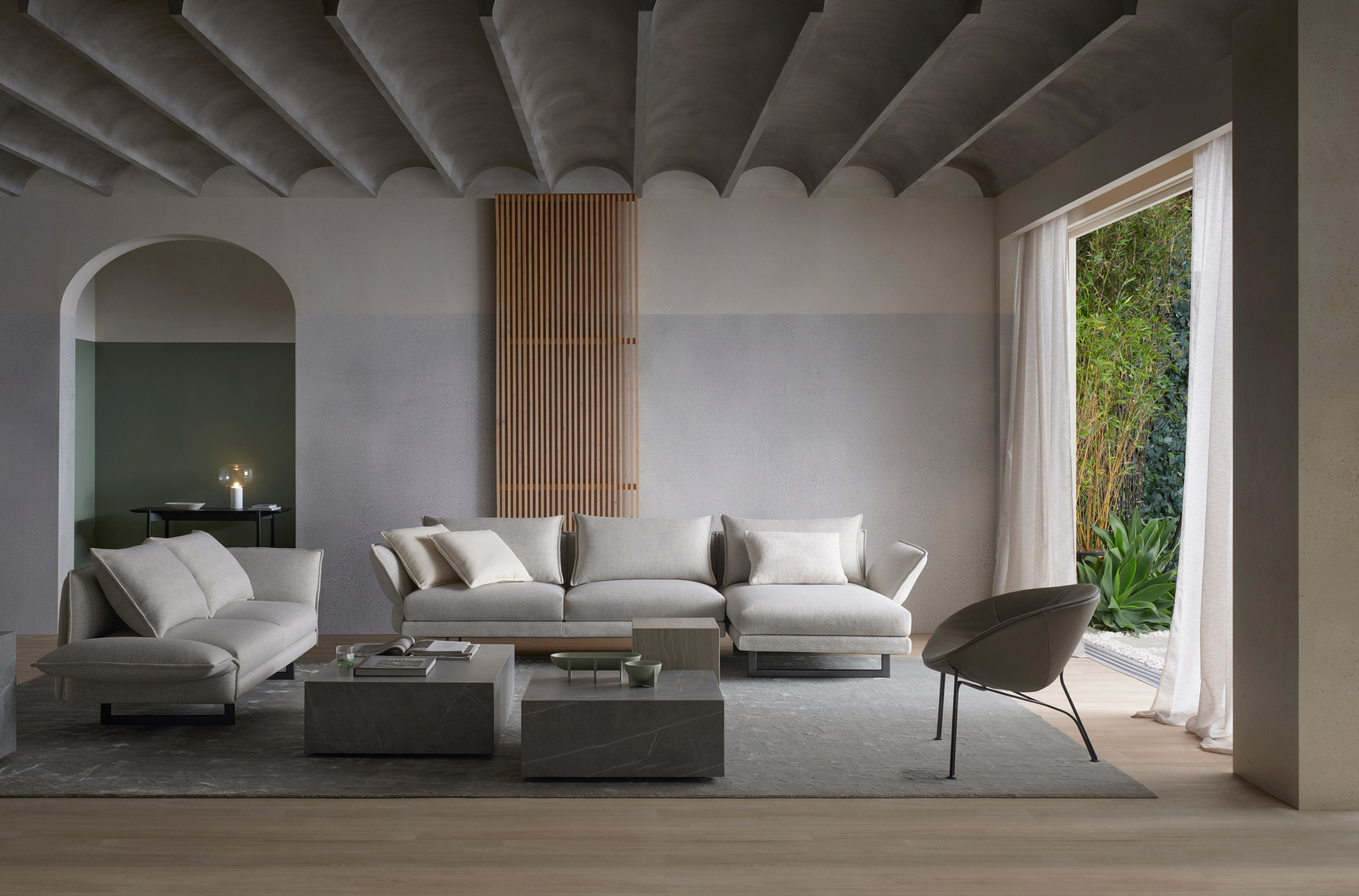 Zaza outdoor sofa by Charles Wilson for King