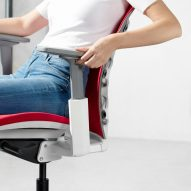 Chair with tilted backrest