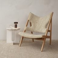 Knitting lounge chair by Ib Kofod-Larsen via Menu