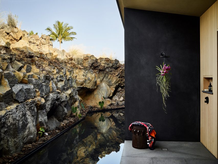 Terrace of a house in Hawaii