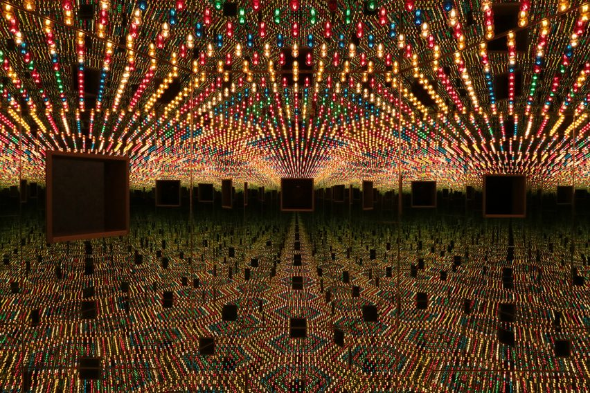 Yayoi Kusama's Infinity Mirror Room Love Forever from Dezeen Events Guide April 2021