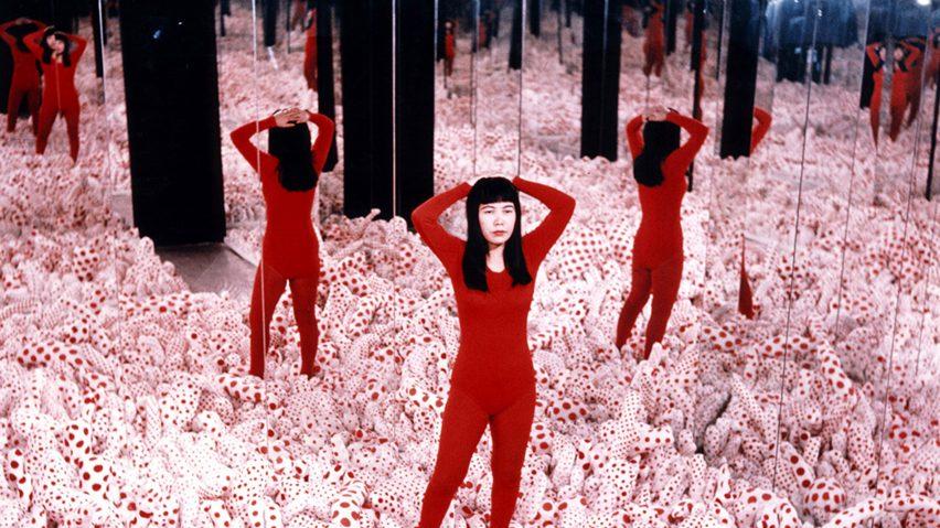 Kusama retrospective at Gropius Bau as featured in Dezeen Events Guide April