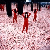 Kusama retrospective at Gropius Bau as featured in Dezeen Events Guide April