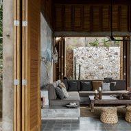An open-plan living space
