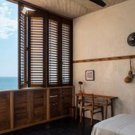 Wooden shutters are flexible for Oaxaca's climate