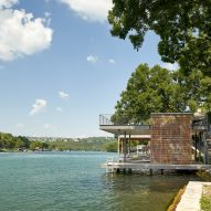 The house is situated on Lake Austin