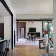 The living space is open-plan