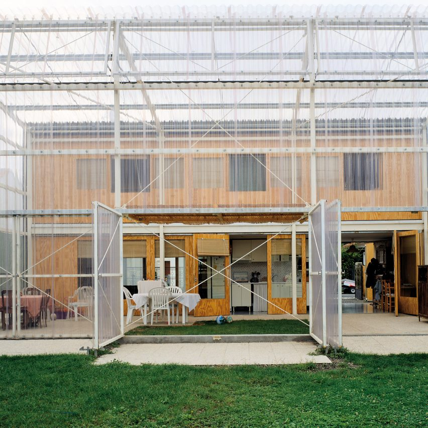 The polycarbonate conservatory of a private house in France