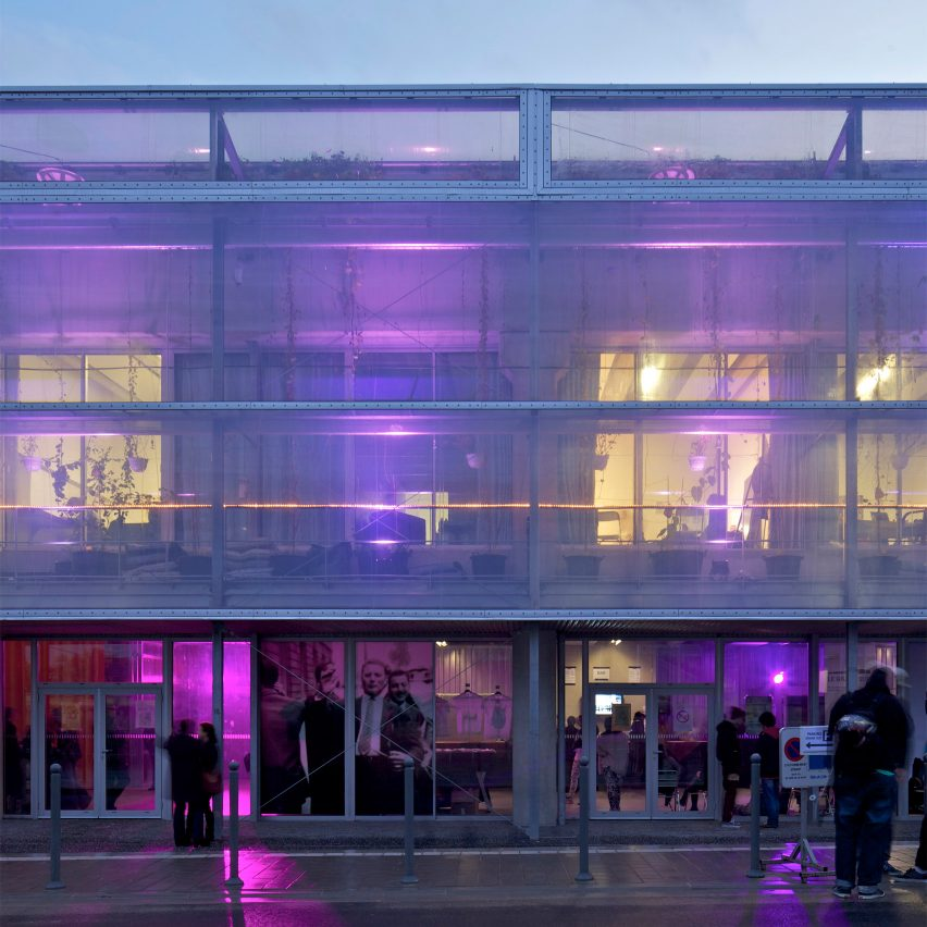 The exterior of a theatre by Lacaton & Vassal
