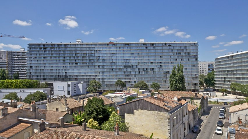 A renovated 1960s social housing block in France