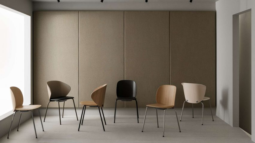 Trioo chairs by Johannes Foersom and Peter Hiort-Lorenzen for Lammhults