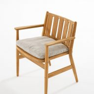 A wooden dining chair from Roda's Levante collection
