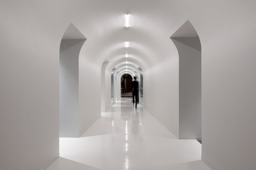 Bright white corridors