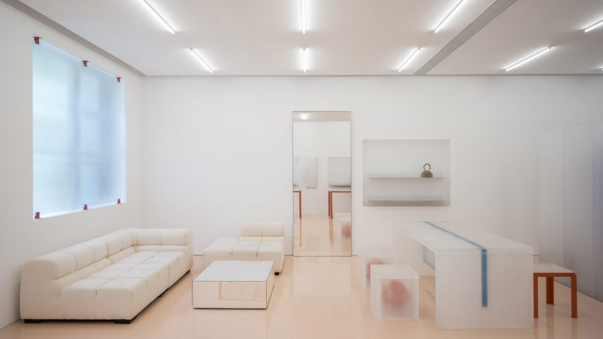 Interior of Lika Lab boutique by Say Architects