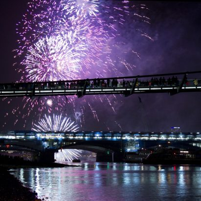 Fireworks over the Thames