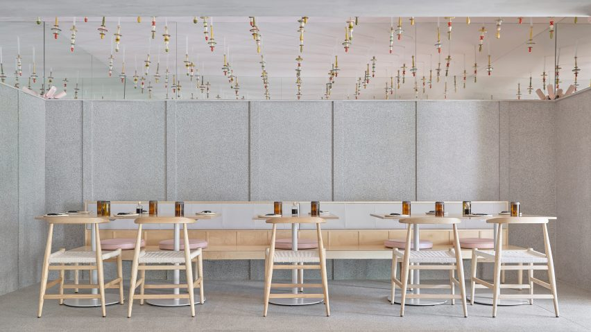 Main dining room in Lucky Chan restaurant in Bangalore by MAIA Design Studio