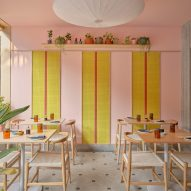 Lucky Chan restaurant in Bangalore combines craft objects with candy colours